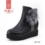 BX100-481 黑色 【大棉】 时尚休闲女靴