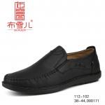 BX112-102 黑色 时尚舒适休闲男鞋