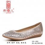 BX101-253 金色 优雅平底网纱女鞋